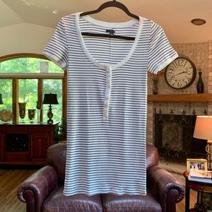 American Eagle Outfitters striped shirt.